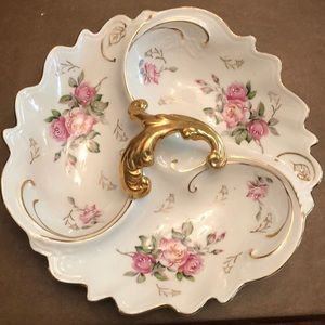 Other - Porcelain 3 Compartment Candy Dish